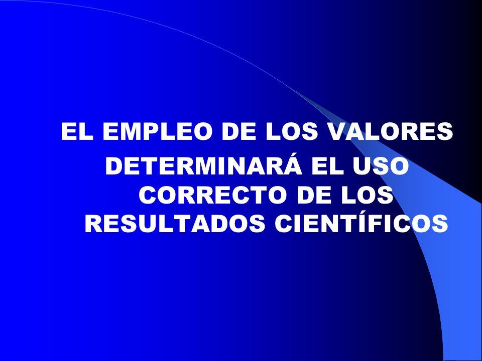 EL EMPLEO DE LOS VALORES