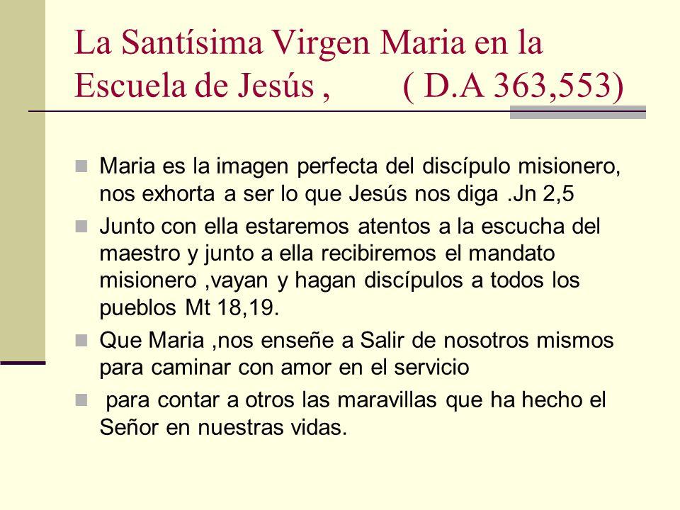 La Santísima Virgen Maria en la Escuela de Jesús , ( D.A 363,553)
