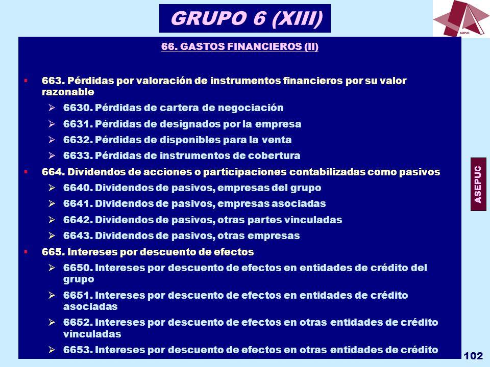 66. GASTOS FINANCIEROS (II)
