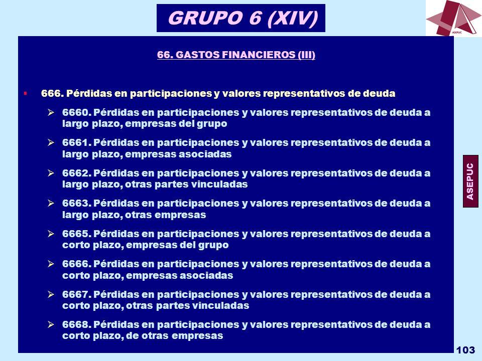 66. GASTOS FINANCIEROS (III)