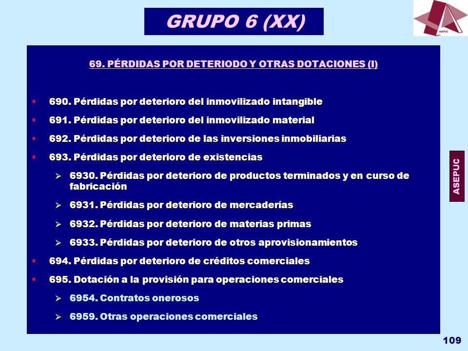 69. PÉRDIDAS POR DETERIODO Y OTRAS DOTACIONES (I)