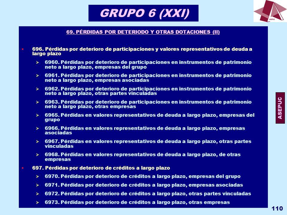 69. PÉRDIDAS POR DETERIODO Y OTRAS DOTACIONES (II)