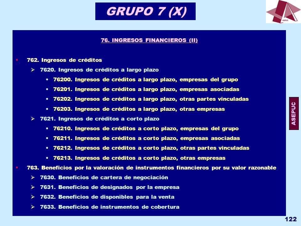 76. INGRESOS FINANCIEROS (II)