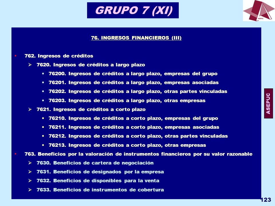 76. INGRESOS FINANCIEROS (III)