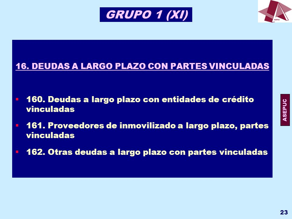 16. DEUDAS A LARGO PLAZO CON PARTES VINCULADAS