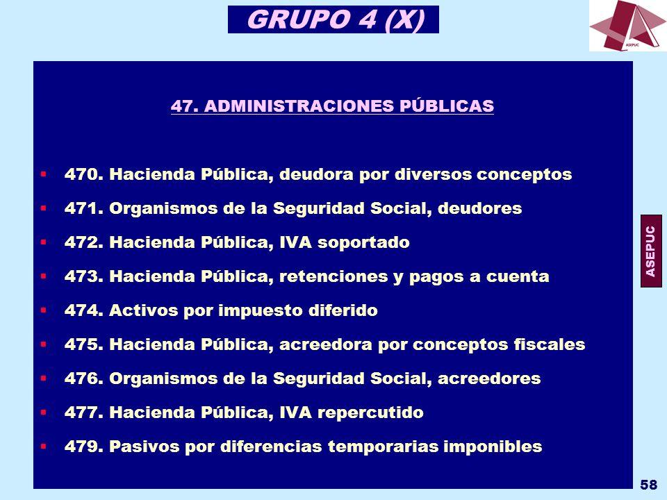 47. ADMINISTRACIONES PÚBLICAS