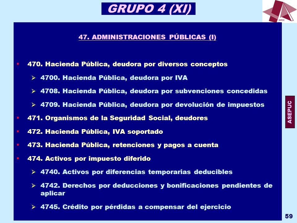 47. ADMINISTRACIONES PÚBLICAS (I)