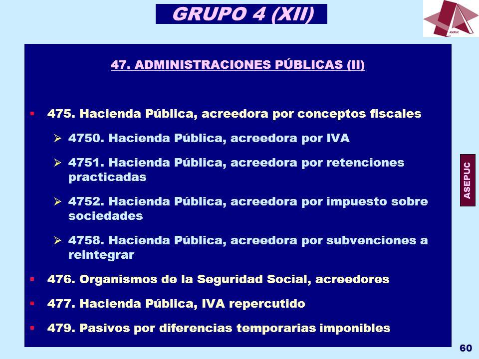 47. ADMINISTRACIONES PÚBLICAS (II)