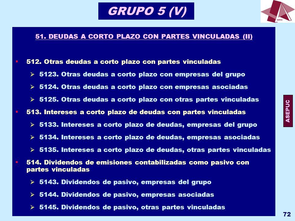 51. DEUDAS A CORTO PLAZO CON PARTES VINCULADAS (II)