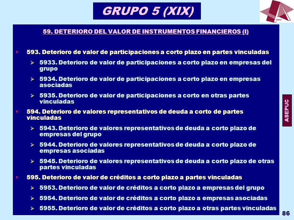 59. DETERIORO DEL VALOR DE INSTRUMENTOS FINANCIEROS (I)