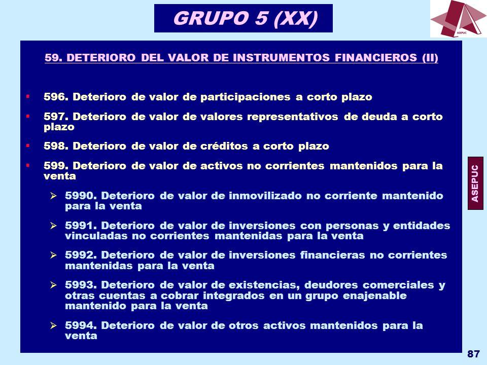 59. DETERIORO DEL VALOR DE INSTRUMENTOS FINANCIEROS (II)