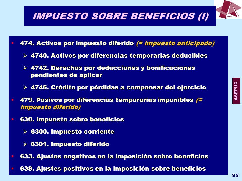 IMPUESTO SOBRE BENEFICIOS (I)