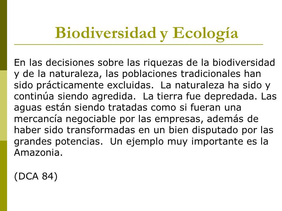 Biodiversidad y Ecología