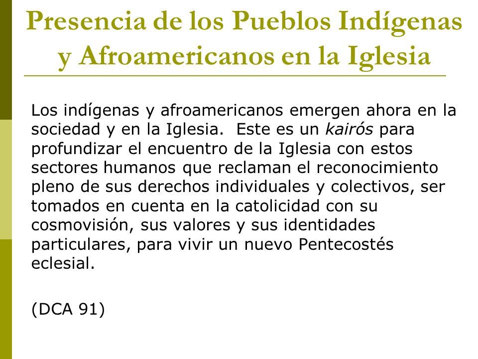 Presencia de los Pueblos Indígenas y Afroamericanos en la Iglesia
