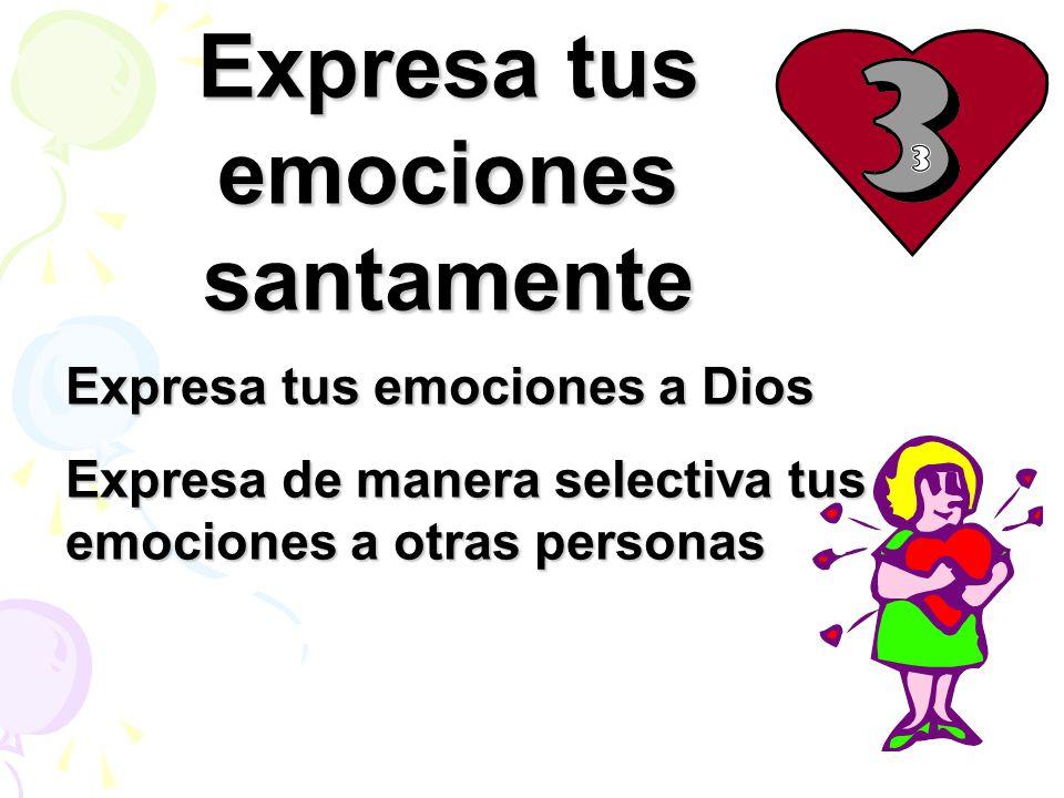 Expresa tus emociones santamente