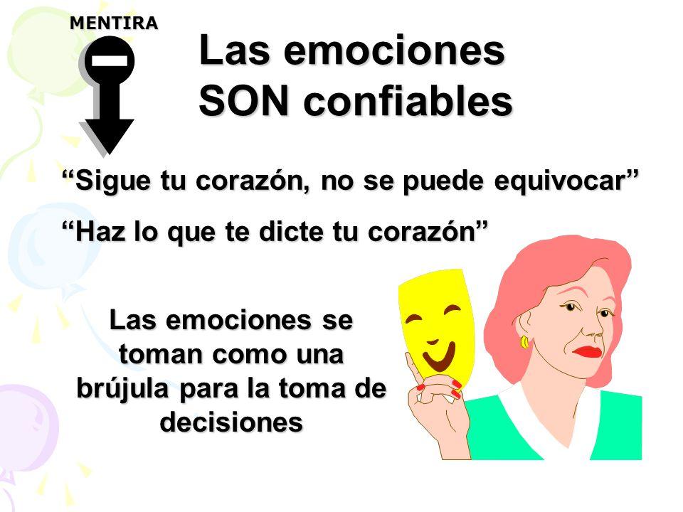 Las emociones se toman como una brújula para la toma de decisiones