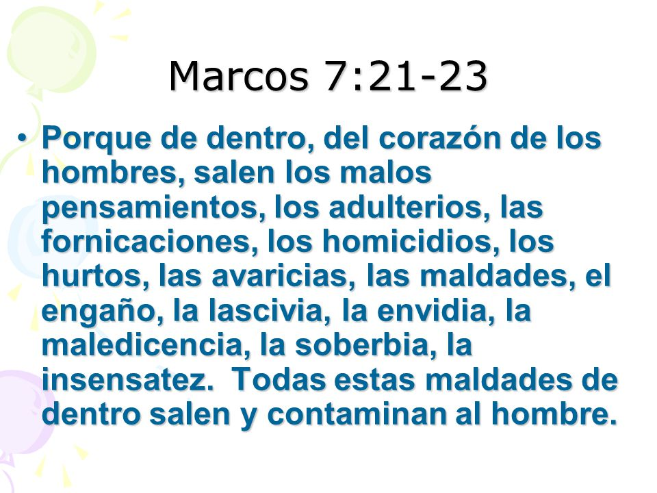 Marcos 7:21-23