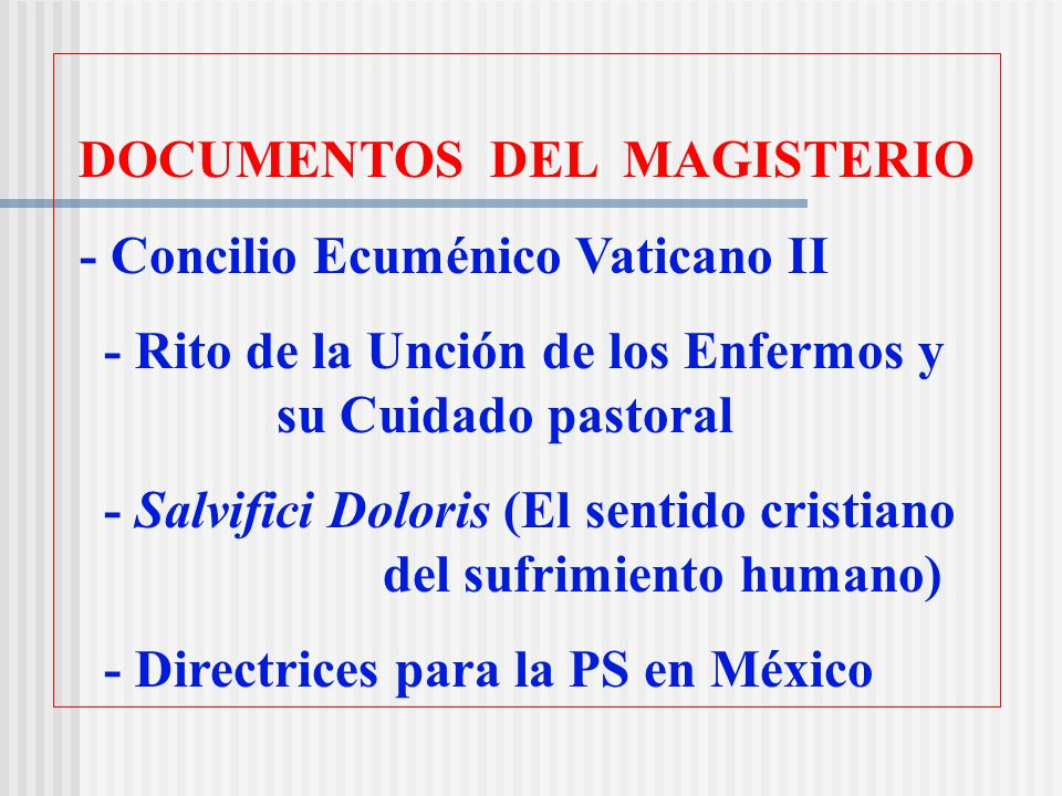 DOCUMENTOS DEL MAGISTERIO