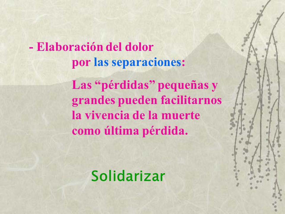 Solidarizar - Elaboración del dolor por las separaciones: