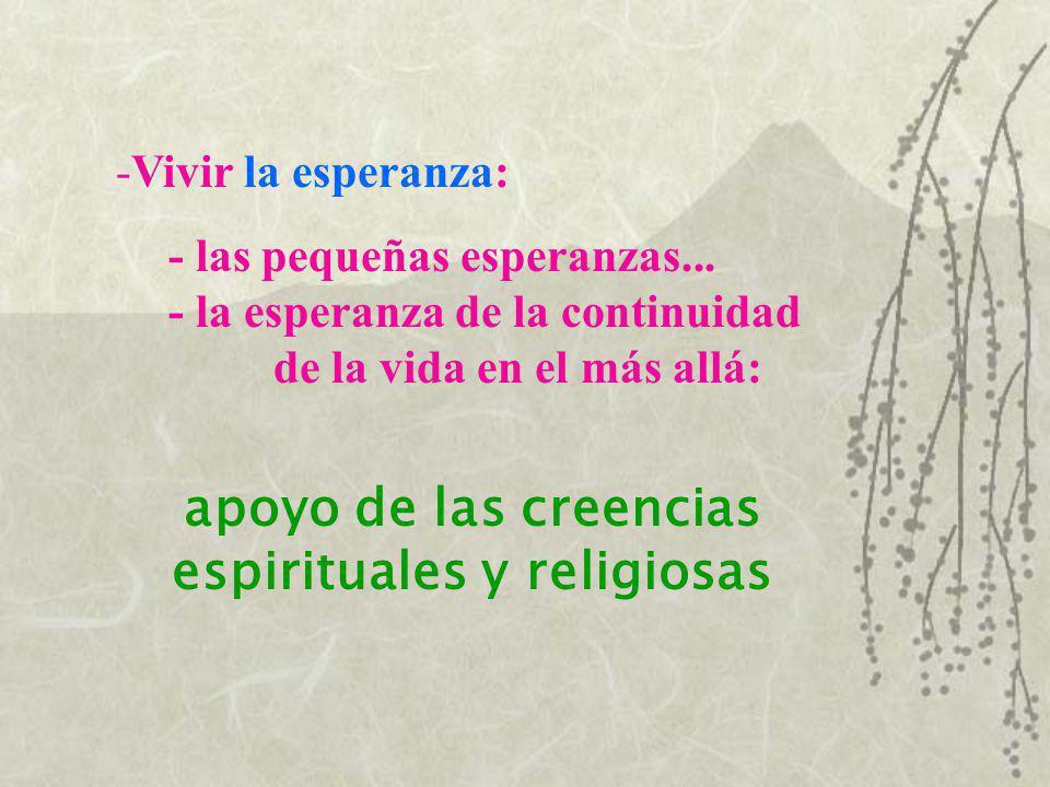 apoyo de las creencias espirituales y religiosas