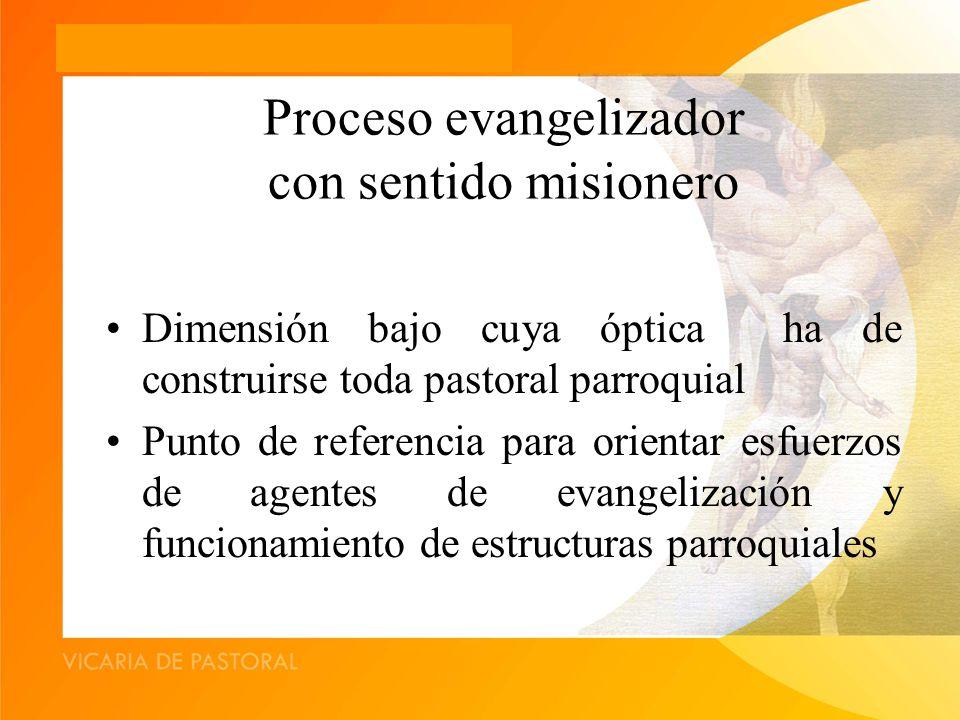 Proceso evangelizador con sentido misionero