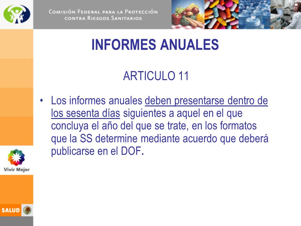 INFORMES ANUALES ARTICULO 11