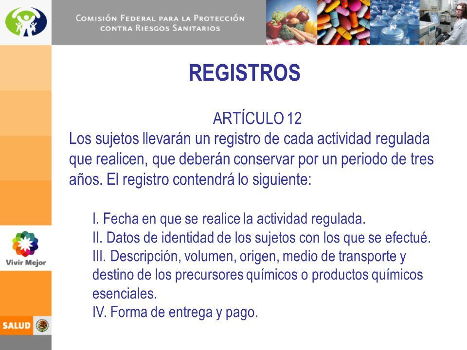 REGISTROS ARTÍCULO 12.