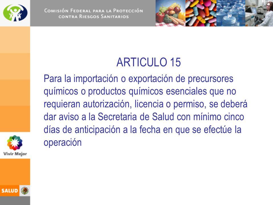 ARTICULO 15