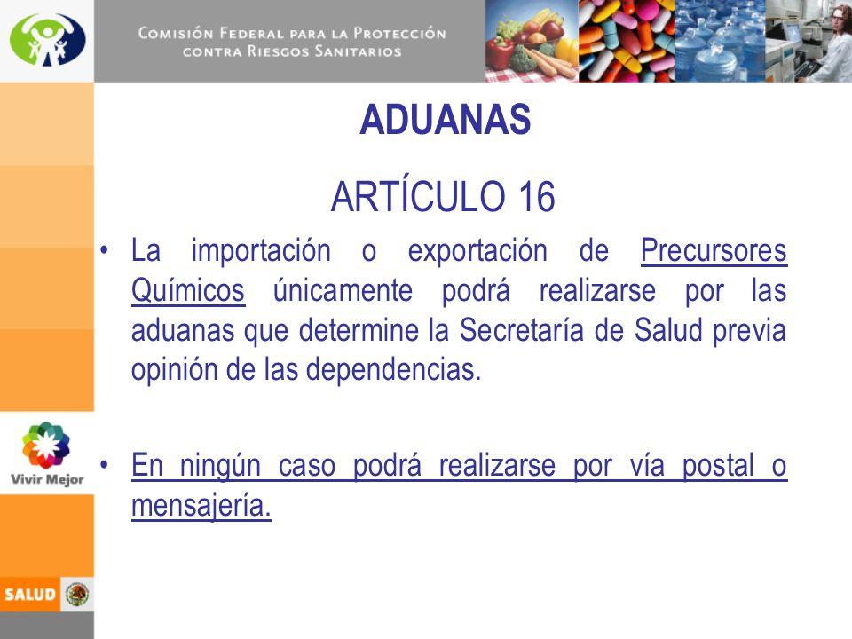 ADUANAS ARTÍCULO 16.