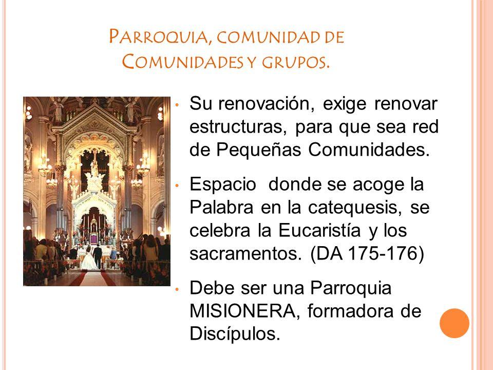 Parroquia, comunidad de Comunidades y grupos.