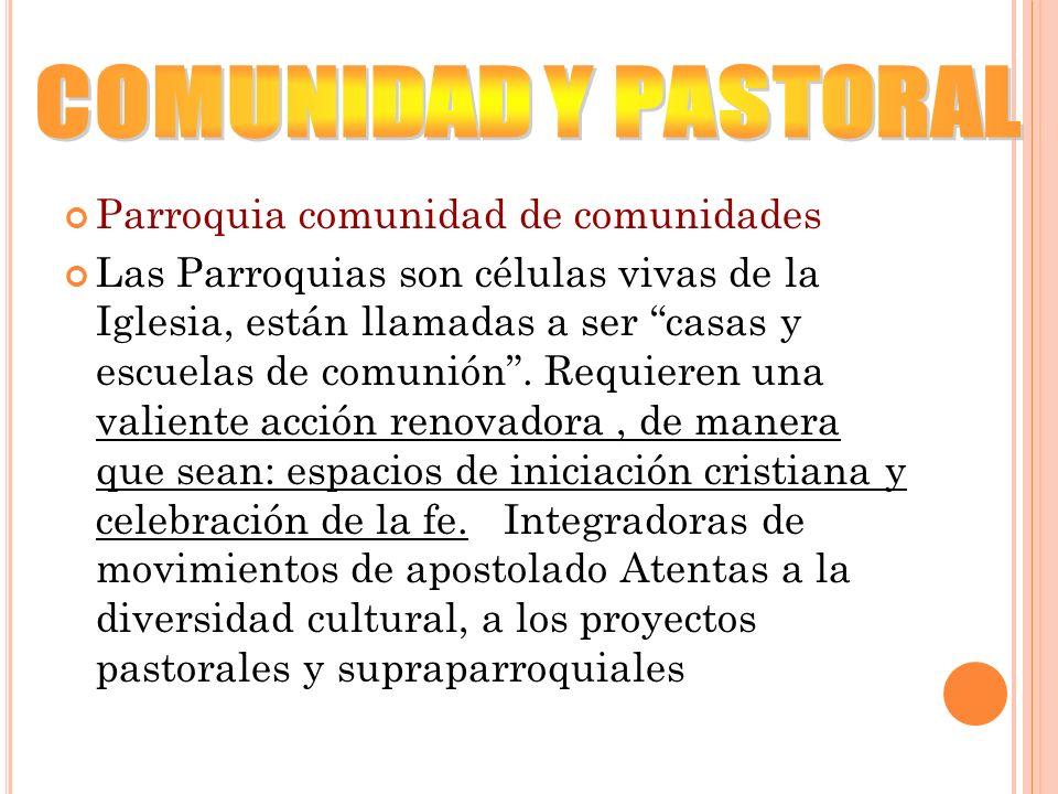 COMUNIDAD Y PASTORAL Parroquia comunidad de comunidades