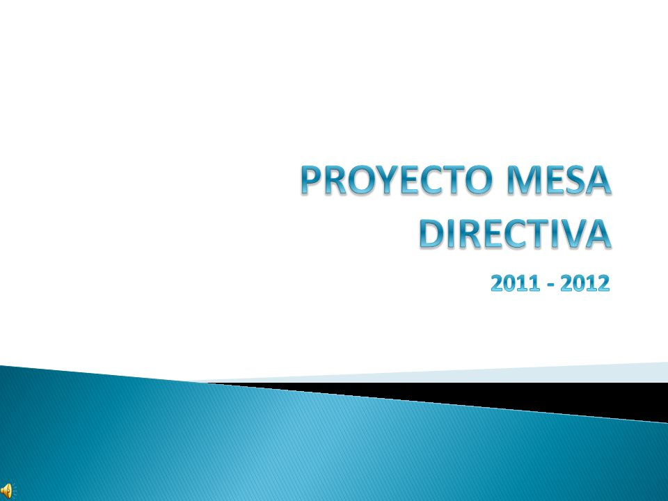 PROYECTO MESA DIRECTIVA