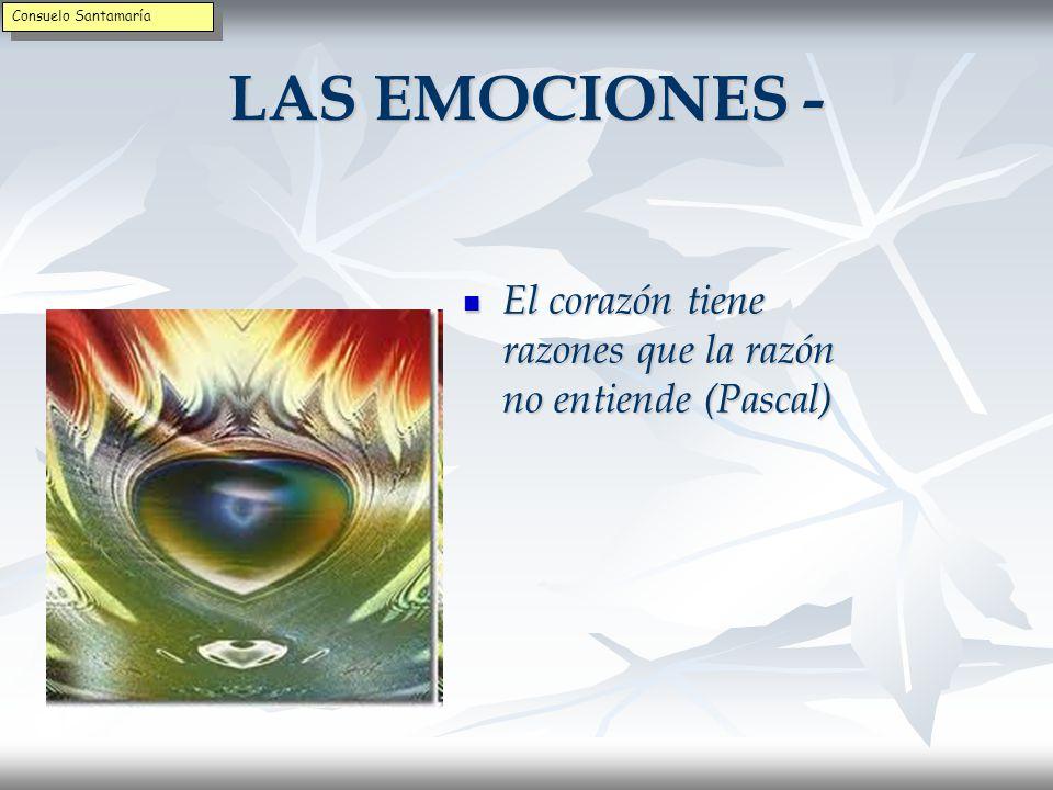 Consuelo Santamaría LAS EMOCIONES - El corazón tiene razones que la razón no entiende (Pascal)