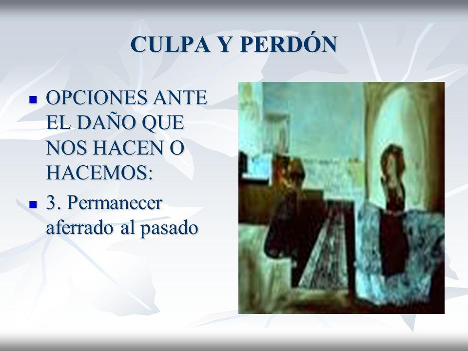 CULPA Y PERDÓN OPCIONES ANTE EL DAÑO QUE NOS HACEN O HACEMOS:
