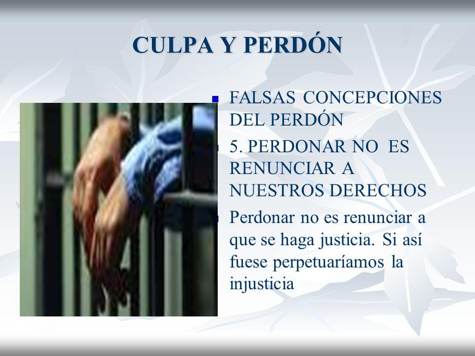 CULPA Y PERDÓN FALSAS CONCEPCIONES DEL PERDÓN