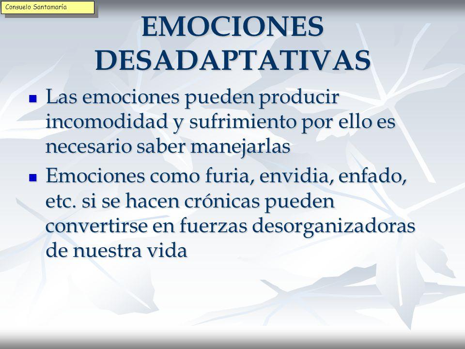 EMOCIONES DESADAPTATIVAS