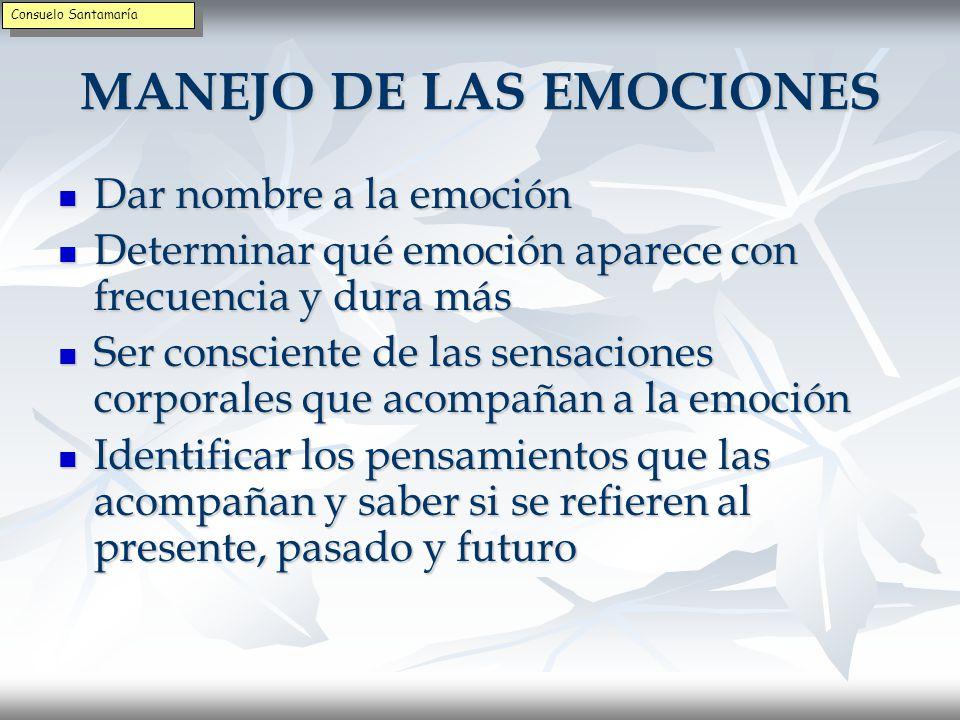 MANEJO DE LAS EMOCIONES