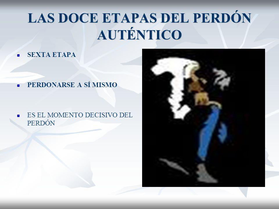 LAS DOCE ETAPAS DEL PERDÓN AUTÉNTICO