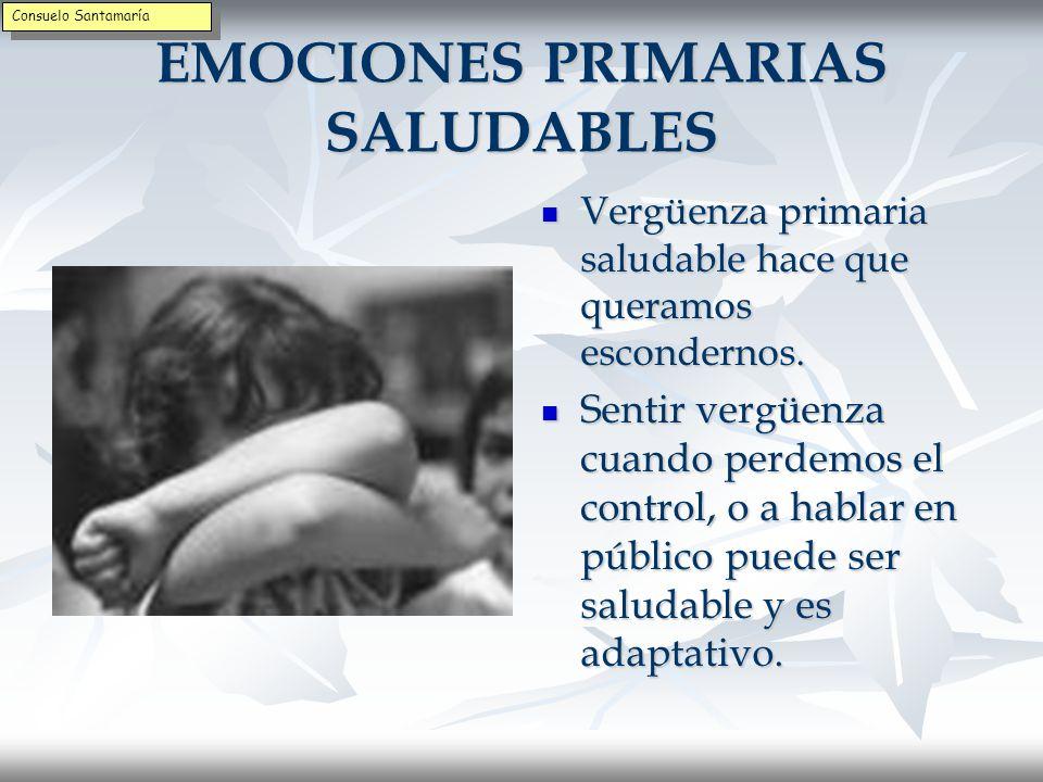 EMOCIONES PRIMARIAS SALUDABLES