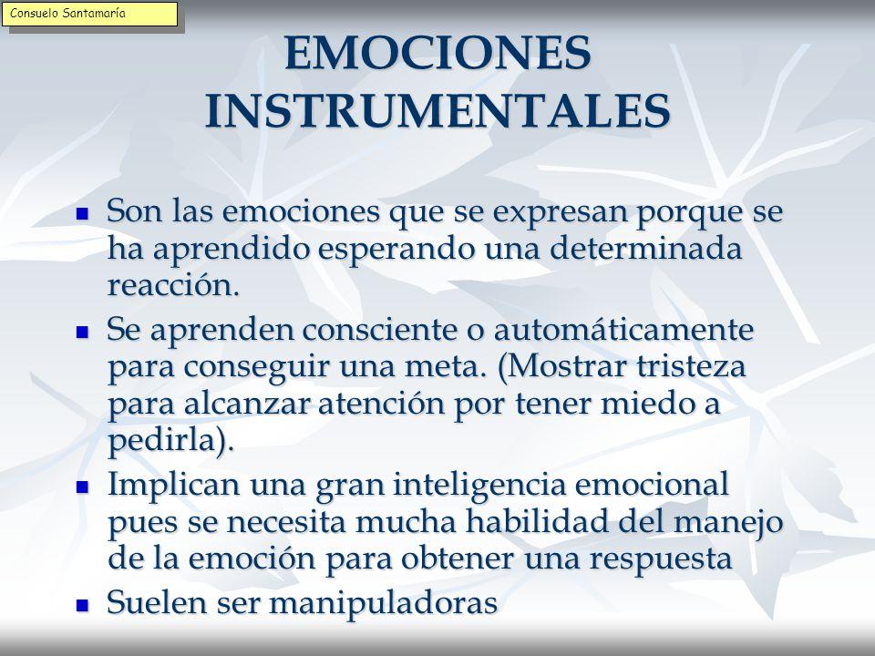 EMOCIONES INSTRUMENTALES