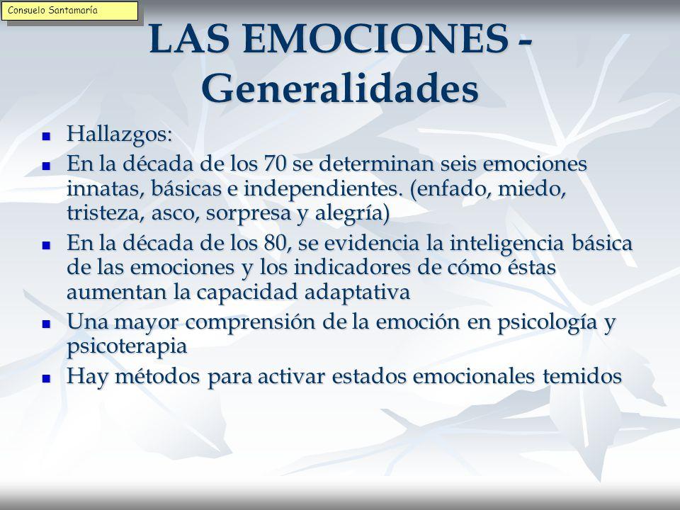 LAS EMOCIONES - Generalidades
