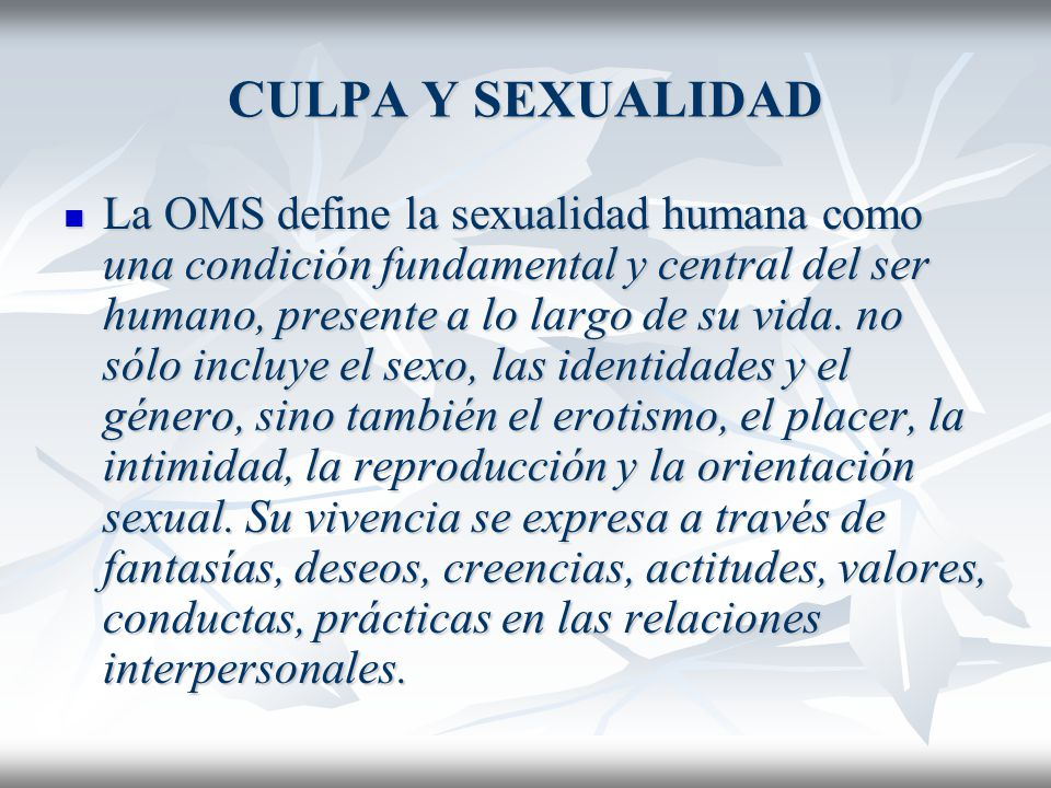 CULPA Y SEXUALIDAD