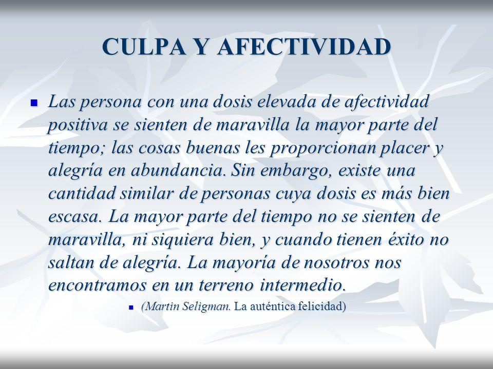 CULPA Y AFECTIVIDAD