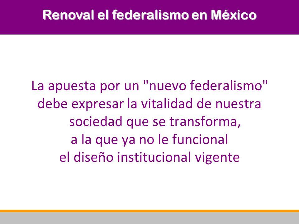 Renoval el federalismo en México
