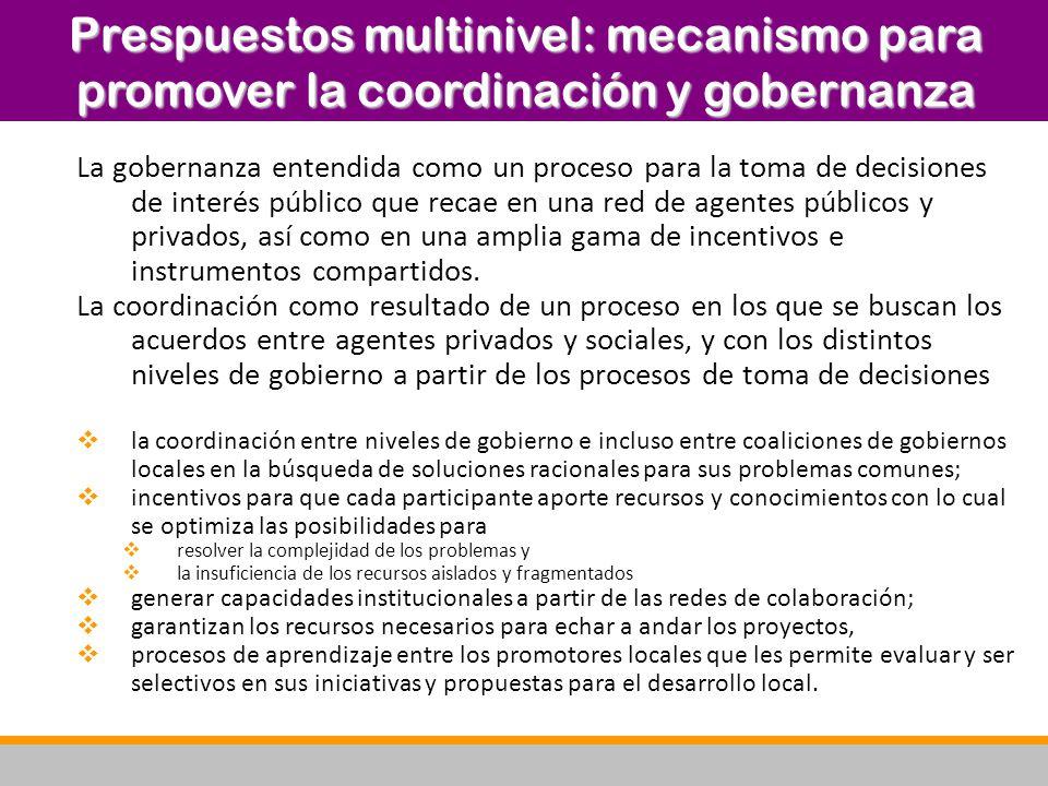 Prespuestos multinivel: mecanismo para promover la coordinación y gobernanza