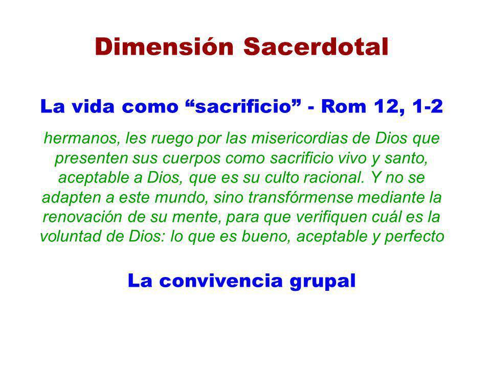 La vida como sacrificio - Rom 12, 1-2