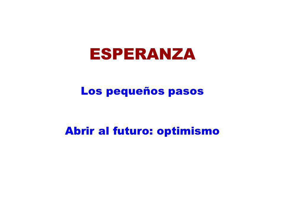 Abrir al futuro: optimismo