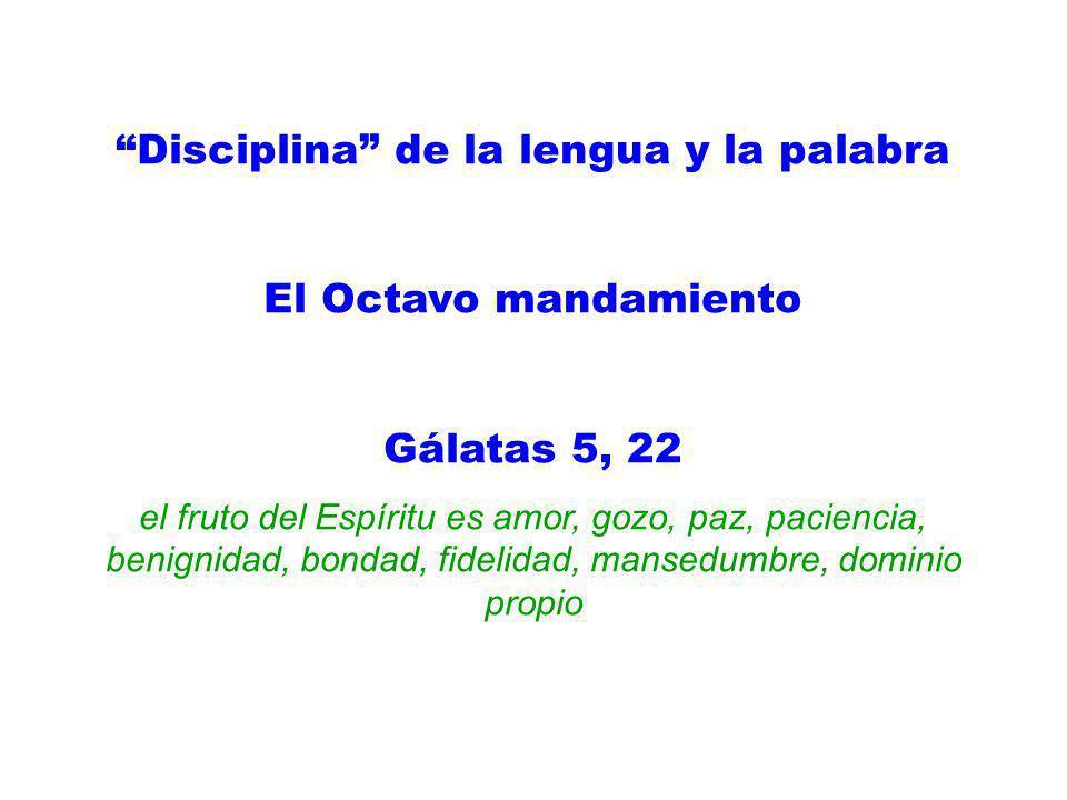 Disciplina de la lengua y la palabra