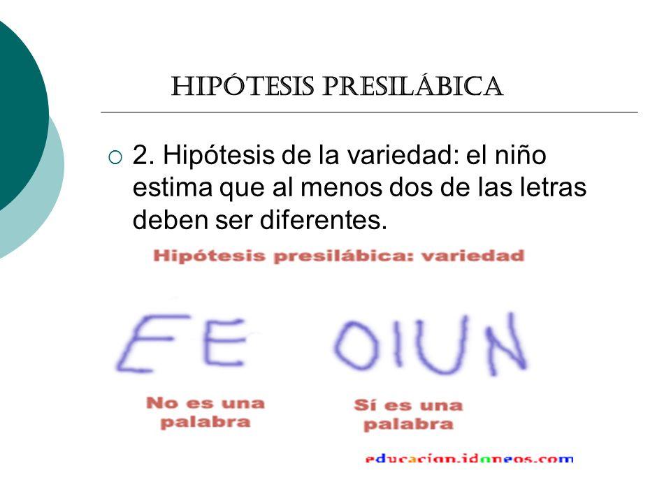Hipótesis presilábica