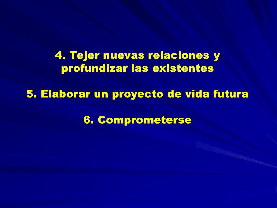 4. Tejer nuevas relaciones y profundizar las existentes